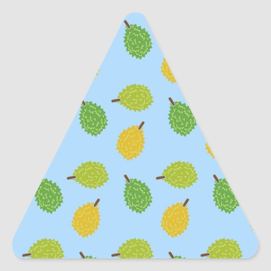 blue durians triangle sticker