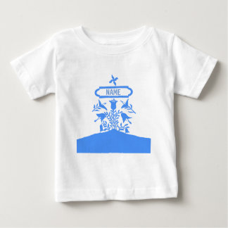 Blue Dutch Flowers, add names Baby T-Shirt