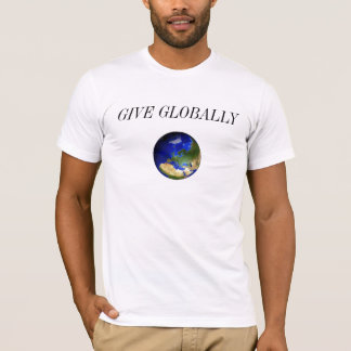 Blue Earth, GIVE GLOBALLY Fitted Tee
