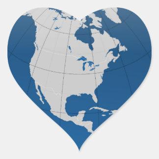 Blue Earth High Quality Print Heart Sticker