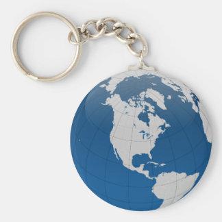 Blue Earth High Quality Print Key Chain