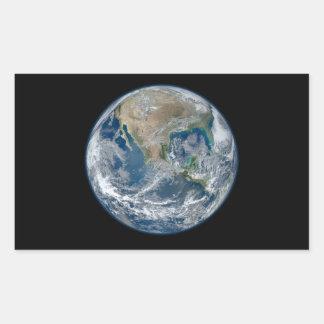 Blue Earth Rectangular Stickers
