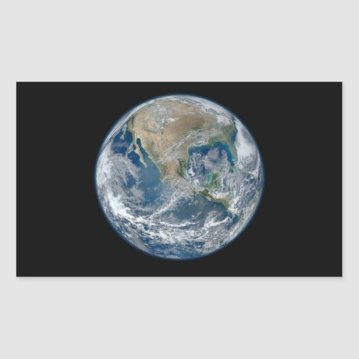 Blue Earth Rectangular Stickers