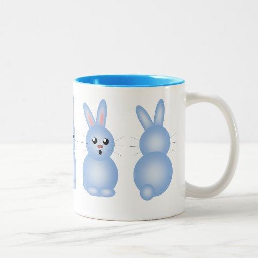 Blue Easter Bunnies Mugs