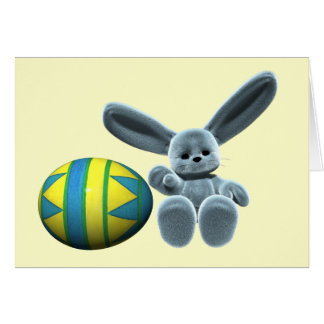 Blue Easter Bunny Cards