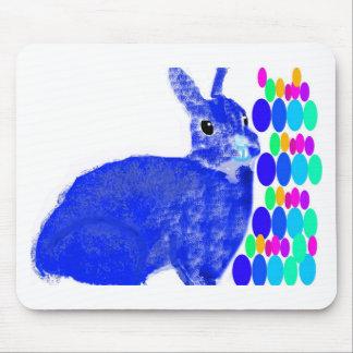 Blue Easter Bunny Rabbit Mousepad