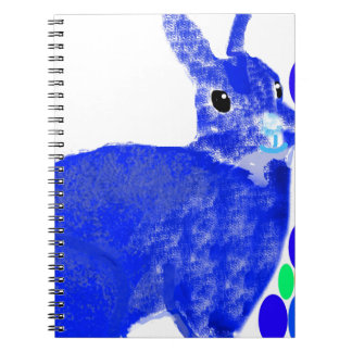 Blue Easter Bunny Rabbit Spiral Note Books