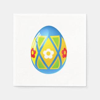 Blue Easter Egg Cocktail Snack Napkins Disposable Serviette