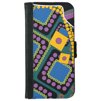 Blue Eastern Ornament iPhone 6 Wallet Case