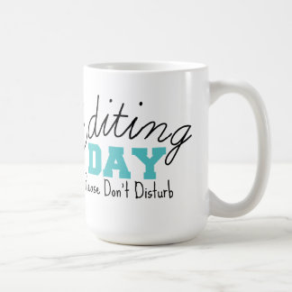 Blue Editing Day Mug