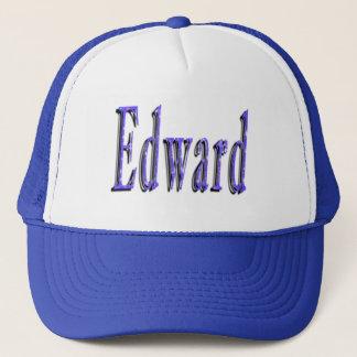 Blue Edward Name Logo, Trucker Hat