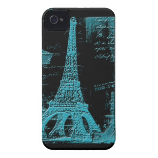 Blue Eiffel Tower Electronics Cases and Covers Case-Mate iPhone 4 Cases