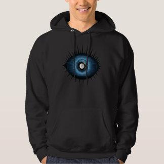 Blue Eightball Eye Hooded Sweatshirts