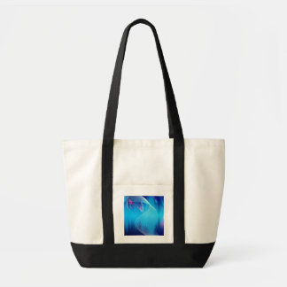 Blue Electric Audio Waveform Abstract Canvas Bag