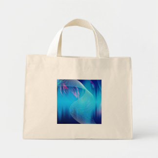 Blue Electric Audio Waveform Abstract Tote Bags