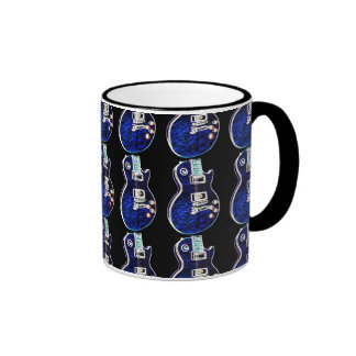 Blue Electric Guitar Mug