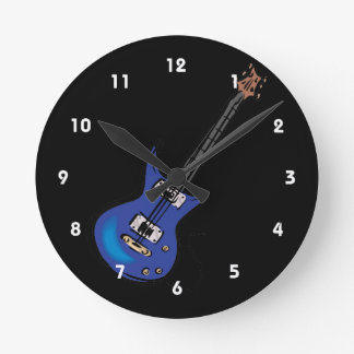 blue electric guitar music graphic.png clock