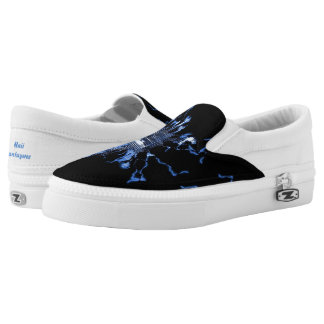 Blue Electric Slip-On Shoes