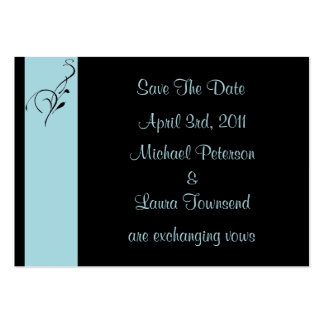 Blue Elegance Mini Save The Date Card Business Card Template