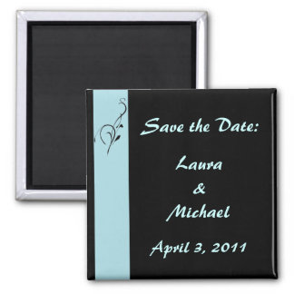 Blue Elegance Wedding Square Magnet