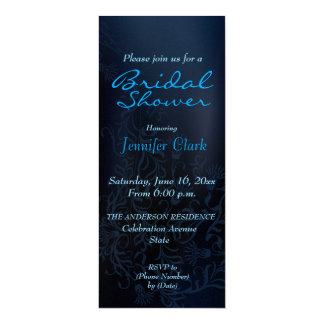 Blue elegant bride bridal shower  Invitations