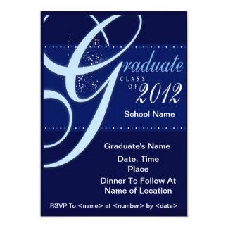 Blue Elegant Class of 2012 Graduation Invitations