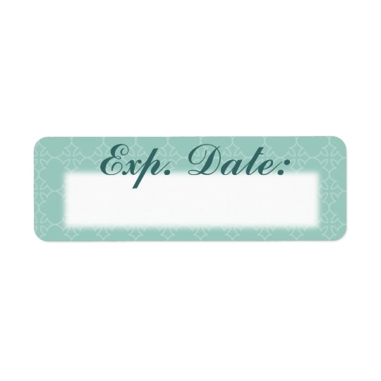 Blue Elegant Expiration Date Labels