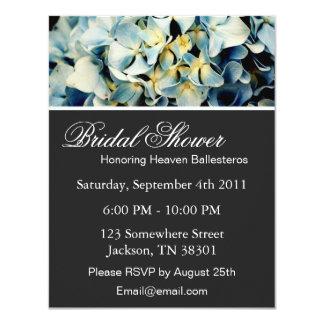 Blue Elegant Hydrangea Bridal Shower Invitations