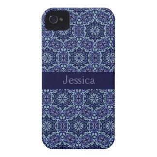 Blue Elegant Pattern Blackberry Bold name case iPhone 4 Covers