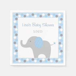 Blue Elephant Baby Shower Disposable Serviette