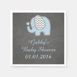 Blue Elephant Baby Shower Napkins Disposable Napkins