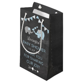 Blue Elephant Baby Shower Thank You Guest Favor Small Gift Bag