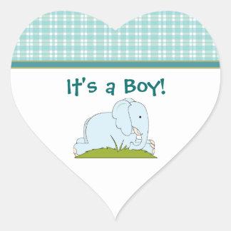 Blue Elephant Baby Stickers
