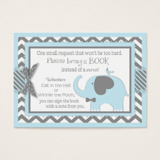 Blue Elephant Bird Bring a Book Card