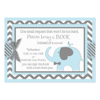 Blue Elephant Bird Bring a Book Card Pack Of Chubby Business Cards