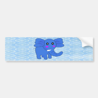 Blue Elephant Car Bumper Sticker