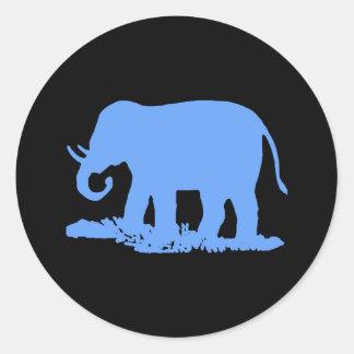 Blue Elephant Classic Round Sticker