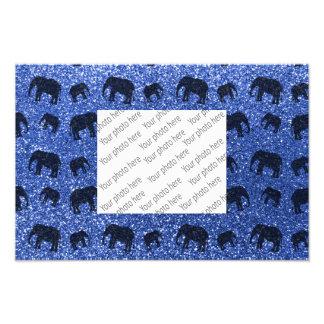 Blue elephant glitter pattern photo