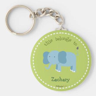 Blue Elephant Key Chain