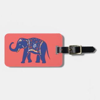 Blue Elephant Luggage Tag