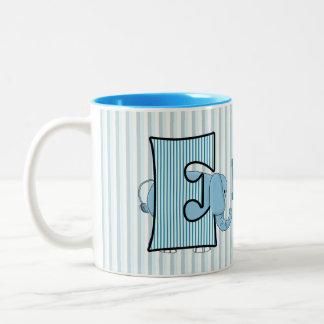 "Blue Elephant Monogrammed ""E"" Kid's Mug"
