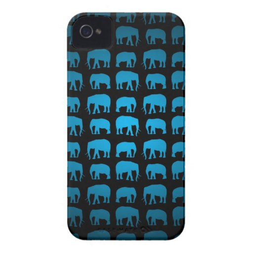 Blue Elephant Pattern iPhone 4 Case-Mate Cases