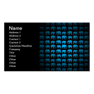Blue Elephant Pattern Pack Of Standard Business Cards