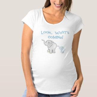 Blue Elephant Pregnancy Maternity T-Shirt