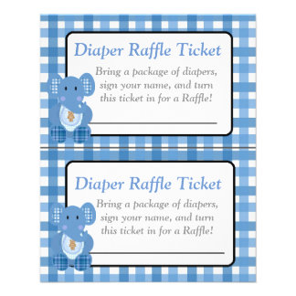 Blue Elephant Themed boy baby shower games Flyer