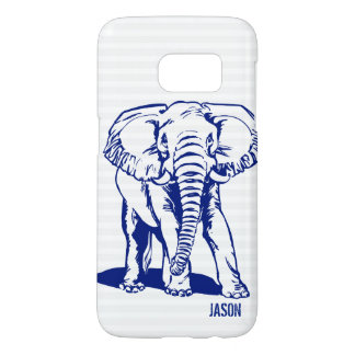 Blue Elephant With Monogram