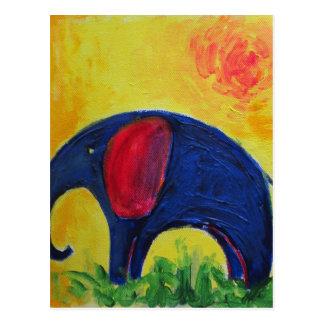 blue elly postcard