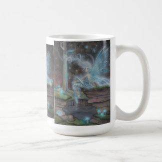 Blue Ember Fairy Fantasy Art Mug by Molly Harrison