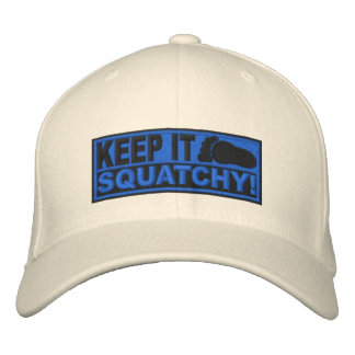 Blue *EMBROIDERED* Keep It Squatchy! - Bobo's Embroidered Baseball Caps