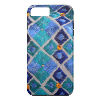 Blue embroidered Phulkari unique iphone case